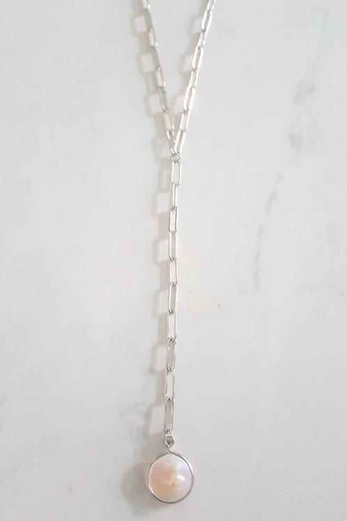 Lela Pearl Drop (Silver/Gld)