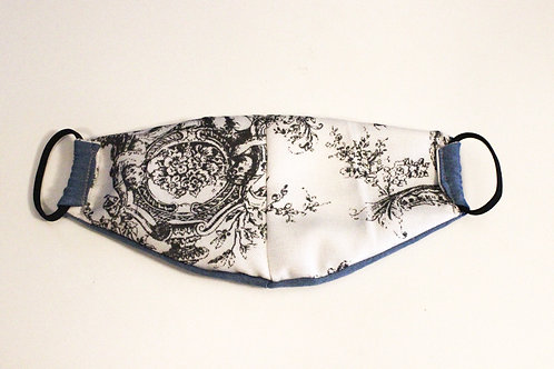 Toile/Denim Reversible Mask