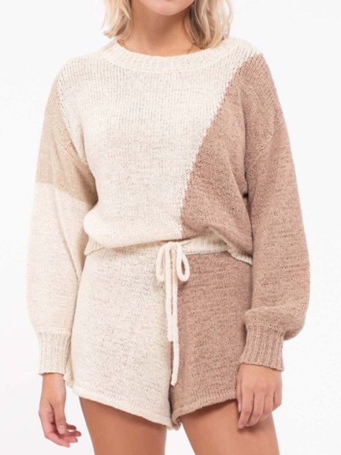 Avery Contrast Sweater
