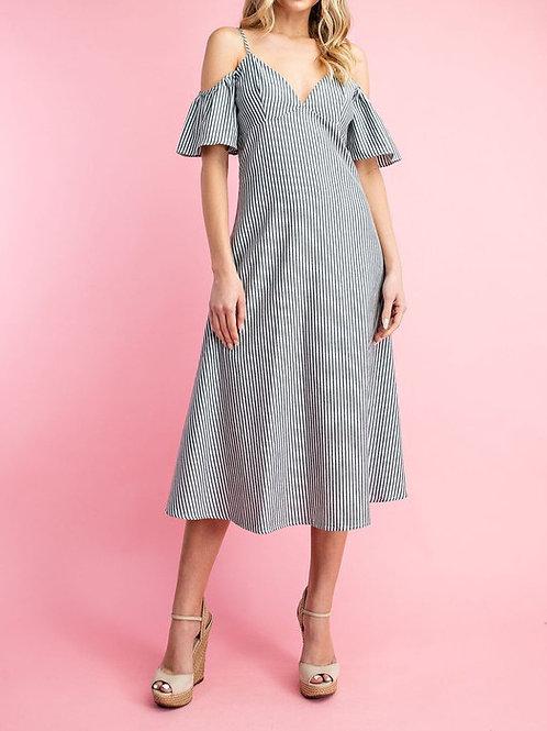 Hailey Pinstripe Dress