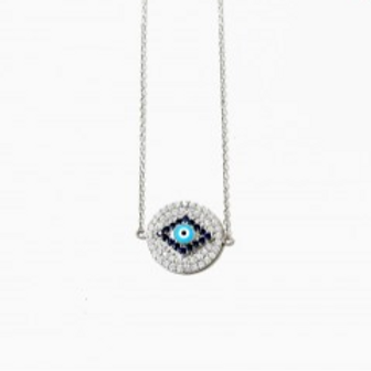 Silver Evil Eye Chain