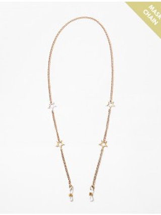 Gold Star Mask Chain