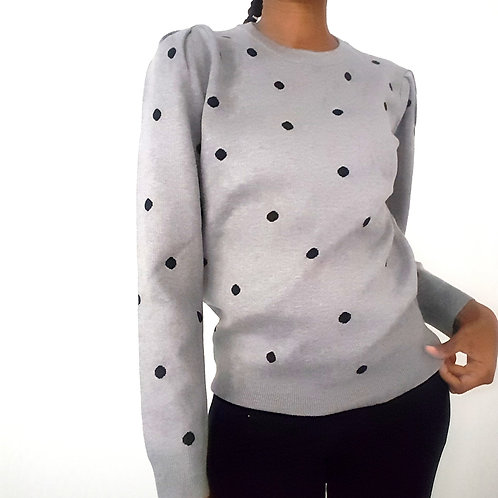 Knit Dot Sweater