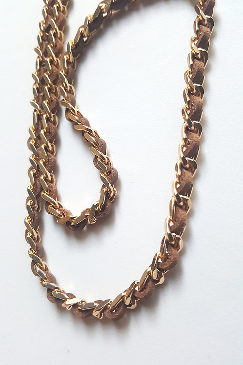 Gold/Tan Chain Mask