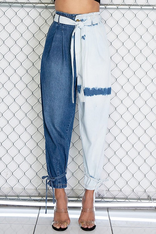 Contrast Slouchy Jeans