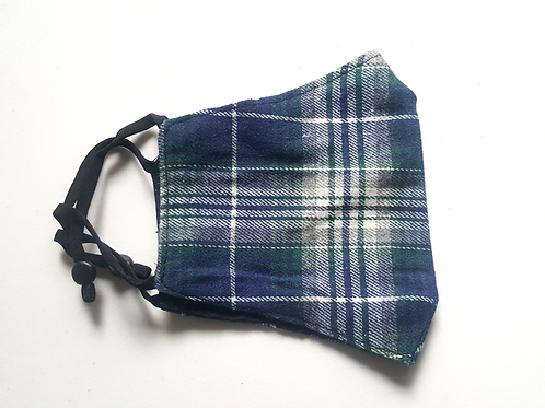 Sima Navy Plaid Mask