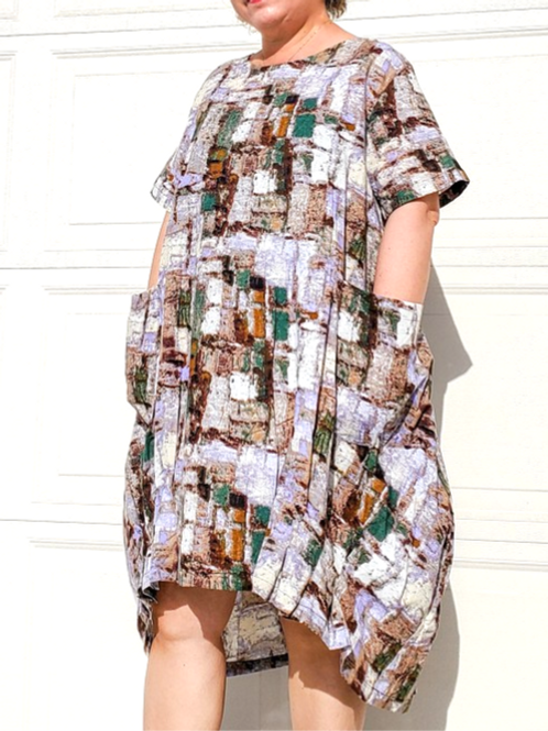 Minka J Abstract Dress
