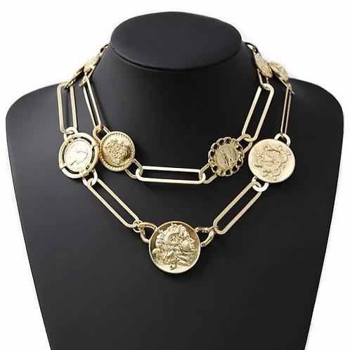 Ilya Large Coin Necklace