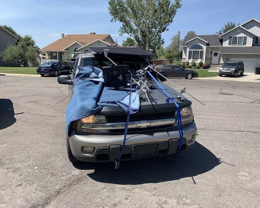 Ghetto little car rig... got the job done