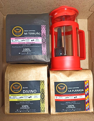 Special Kit (3 bags) + French Press