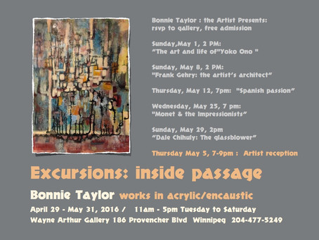 One of our own!! Bonnie Taylor is having her first Solo Show!