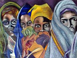 Somali Women  Gouache  14 x 17