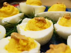 Deviled eggs from our own chickens