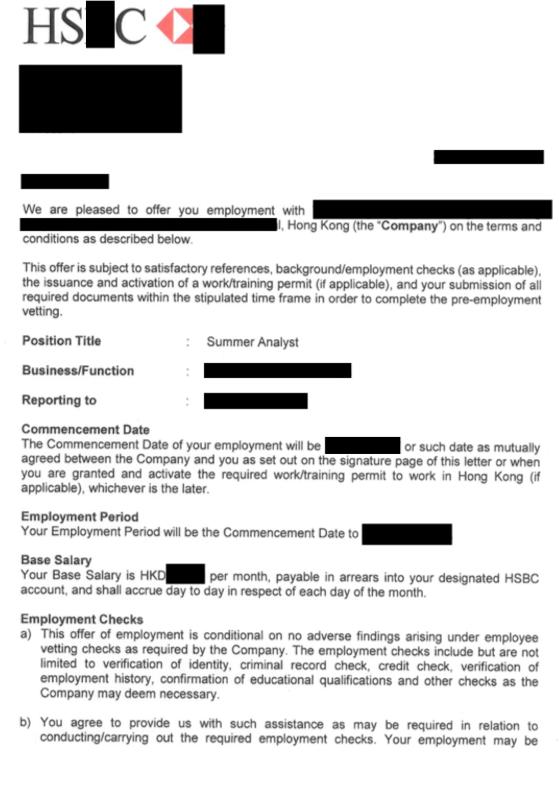 hkcareers   Offer Letter