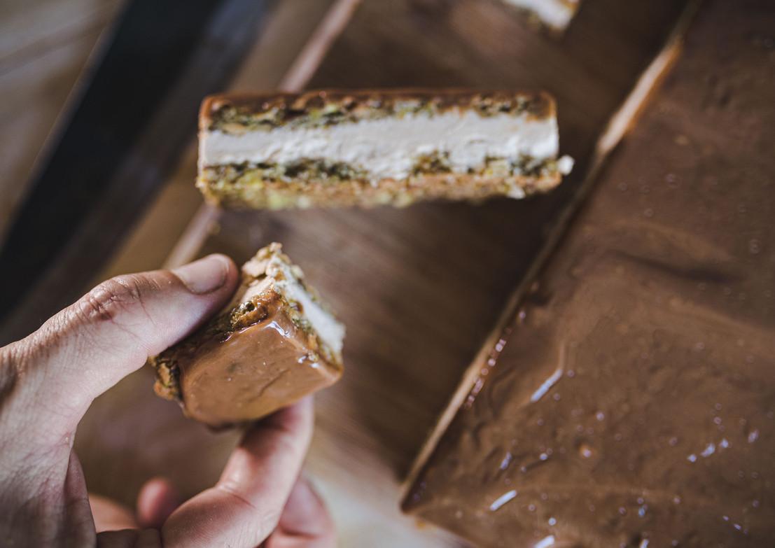 אור קפלן, שף אסף בן משה עוגת פיסטוקים וגלידה קפואה