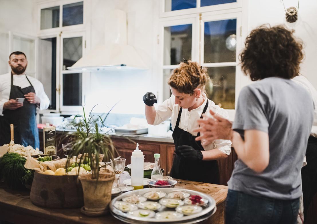 אור קפלן, צילומים במטבח של הנודדת
