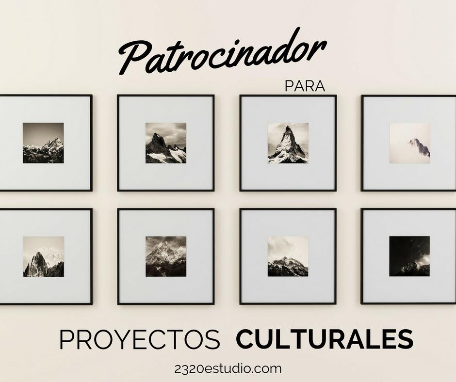 Patrocinador para proyectos culturales