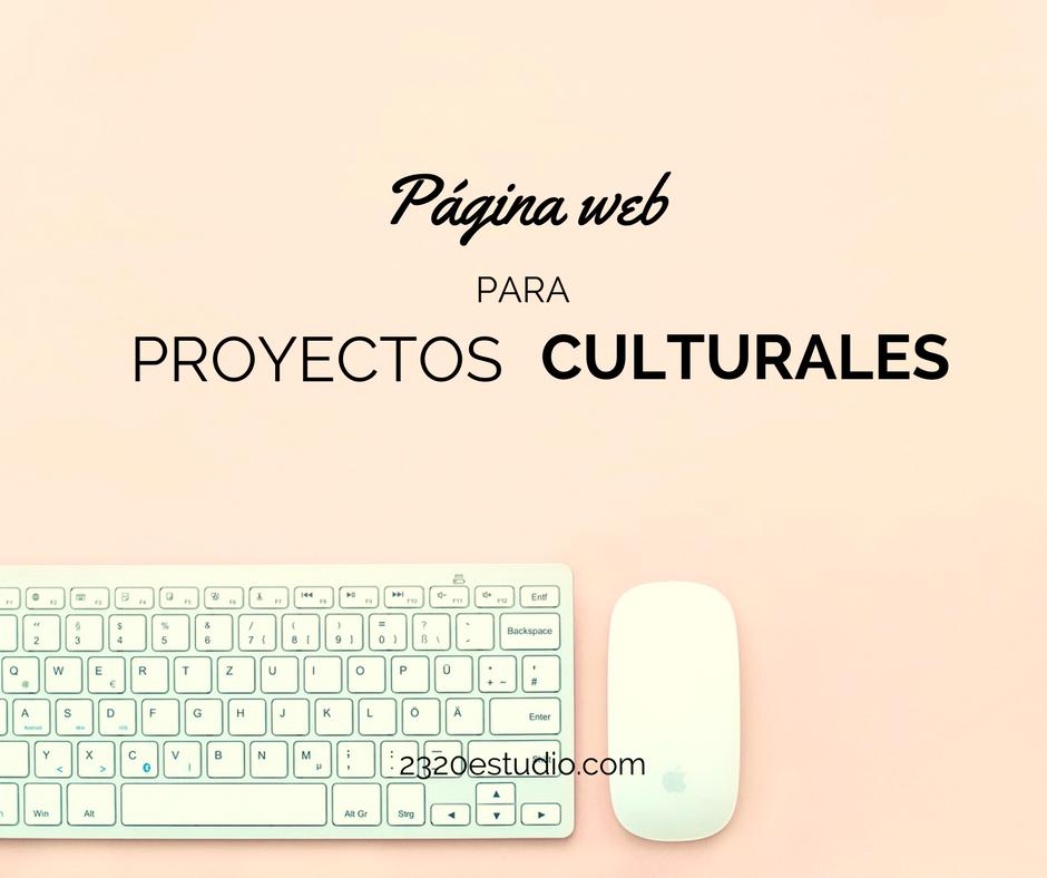 Página web para proyectos culturales