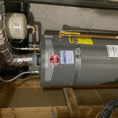 After Water Heater Upgrade Installation