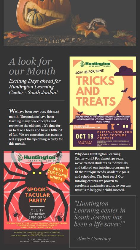 Huntington Newsletter - Halloween Specia