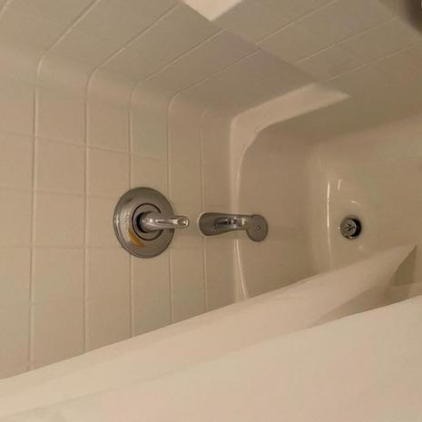 Bathroom 2 Tub with fixtures