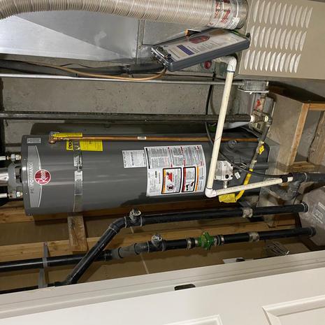 Before Water Heater Upgrade Installation