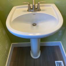 Before Pedestal Sink
