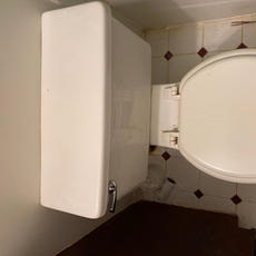 Toilet Above View Before