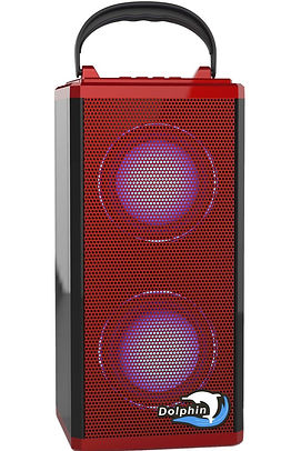 SP-1R BT - Dolphin Audio Rechargeable Mini Bluetooth Speaker-Red
