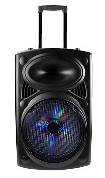 Ridgeway QS - 1209B Rechargeable Bluetooth DJ Speaker with lights & mic-12 Inch