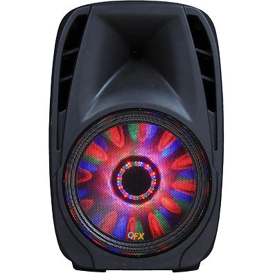 QFX PBX-71100BTL Portable Bluetooth Party Speaker with LED Effects (10 Inch Woofer)