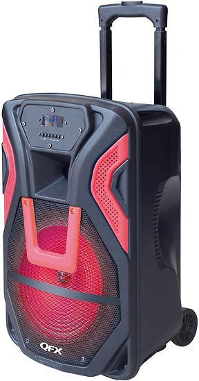 QFX PBX-61158/RD Portable Battery Powered Speaker-15 inch