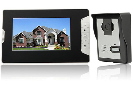 "7"" Wired Video Door Phone Doorbell Intercom Kit 1-Camera 1-Monitor Night Vision"