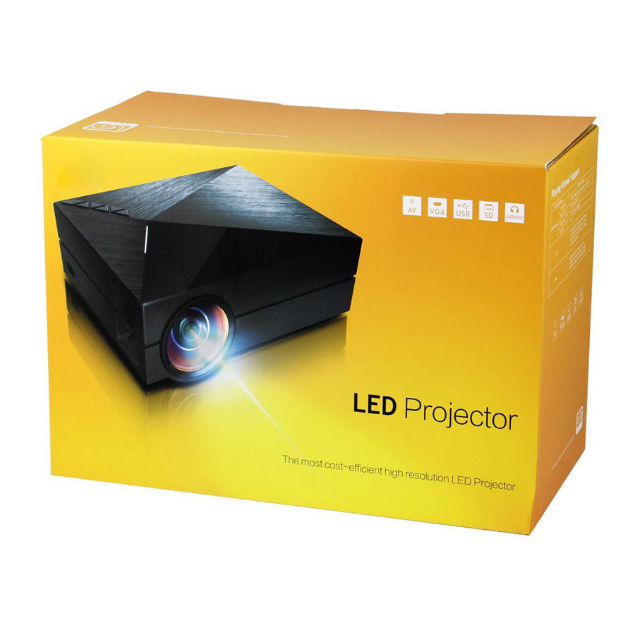 GM-60 LED Projector 1000 Lumens HDMI USB VGA TV Home Theater