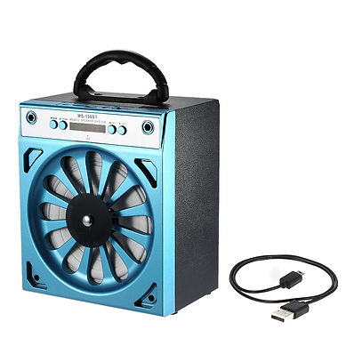 MS-156 Wireless Bluetooth Speaker Loudspeaker USB & 3.5mm+FM Radio TF Card Slot W8D0