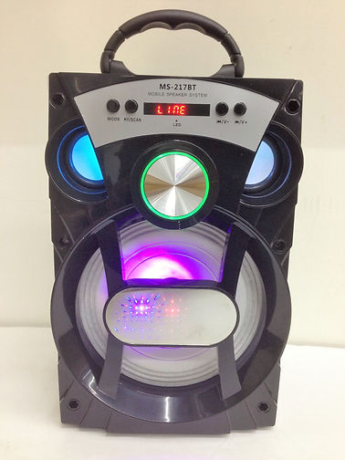 New Bluetooth Speaker with LED light with TF/FM/USB Flash Disk MS-217BT