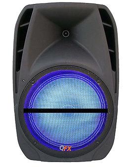 QFX PBX-61124  Rechargeable PA Speaker +Bluetooth +FM Radio,USB,SD +RGB LIGHT- 12 Inch