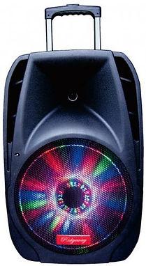 Ridgeway Model QS-1038B Rechargeable Bluetooth DJ Speaker with lights & mic-10 Inch