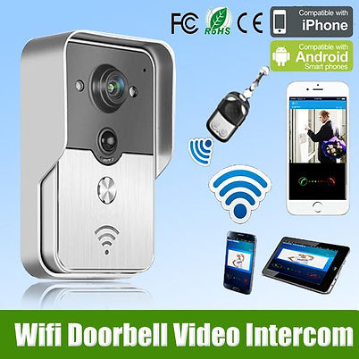 HD 720P H.264 WIFI Doorbell Camera Wireless Video Intercom Phone Night Vision Smart Door Bell for Smartphones & Tablets