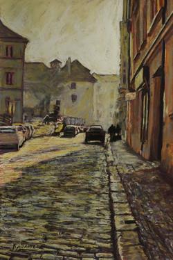 Winter Afternoon, Prague. 55x37cm.