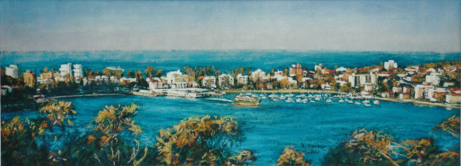 Manly Views. 25x68cm. SOLD