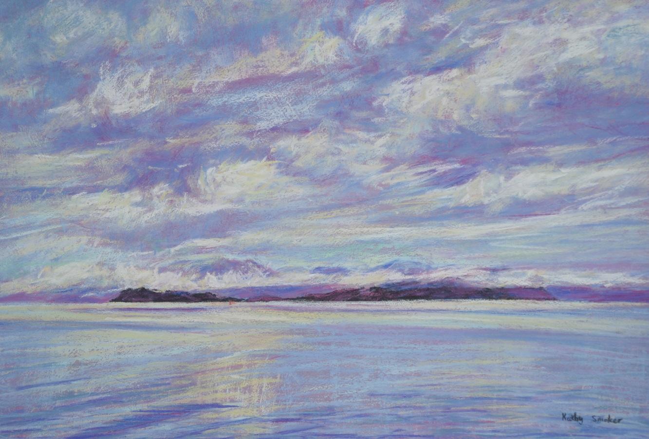 Grey Day, Macquarie Harbour.II. 37x55cm.