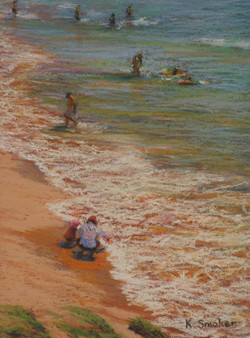 Manly Beach - South End. 9x12in.