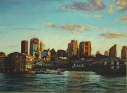 Late Afternoon, Walsh Bay. 55x75cm