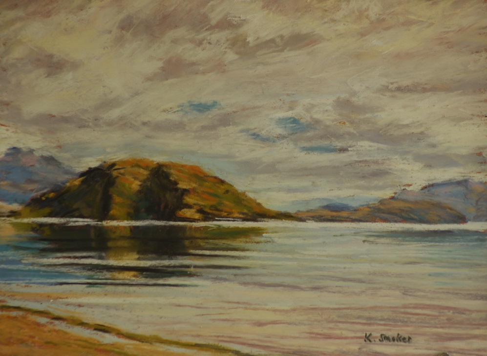 Glendhu Bay. 9x12in.