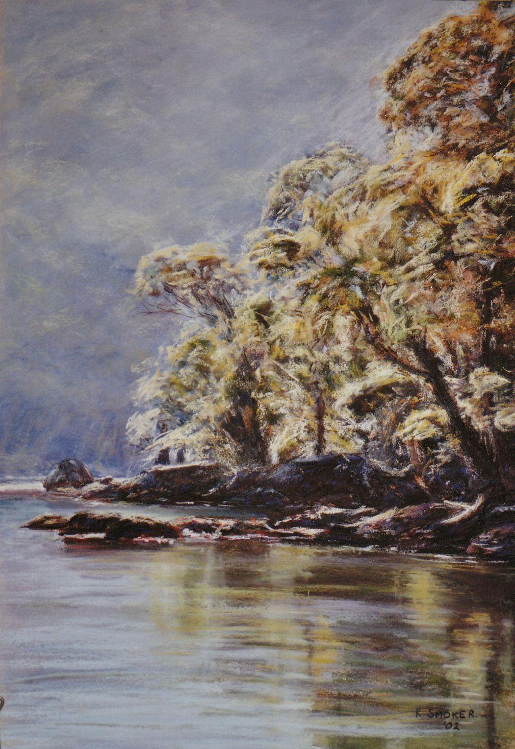Sunny Corner, Refuge Bay. 55x37cm