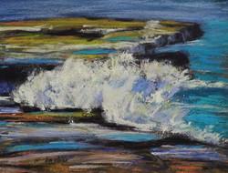 Maroubra Coast II. 9x12in.