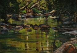 Kangaroo River II.  30x40cm