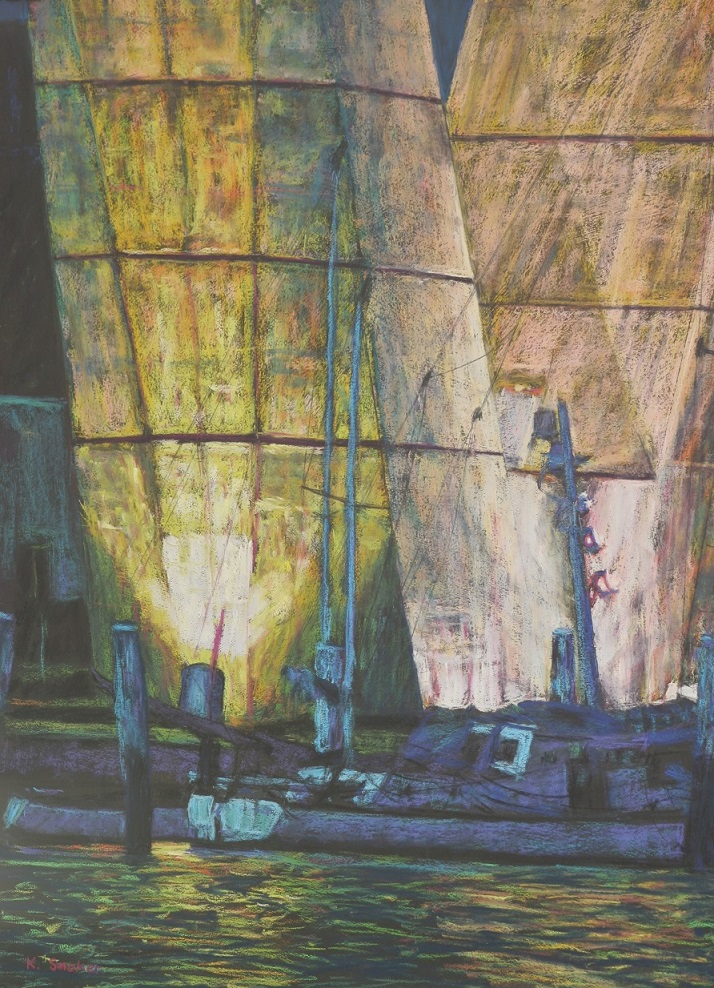 Under Anzac Bridge.75x55cm.