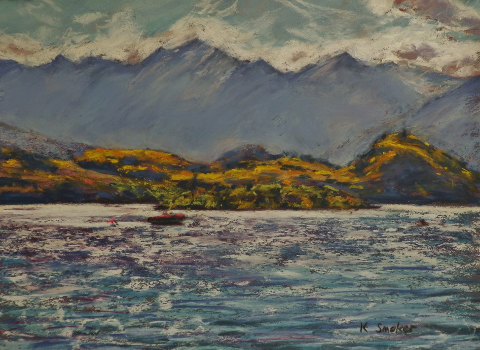 Lake Wanaka.  9x12in.